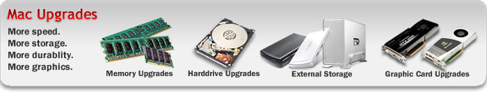 Apple Upgrades - Apple Memory, Apple Harddrives, Apple Graphic Cards